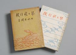 版画家・谷中安規(たになか・やすのり)の装丁による随筆集『琴と飛行機』