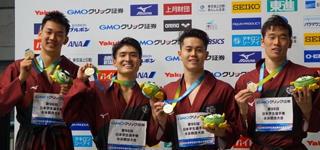 水泳部3年ぶりのメドレーリレー優勝 幌村尚「チームのみんなのために」