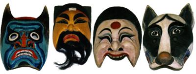 Asian theatre masks